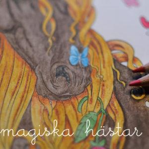 måla magiska hästar