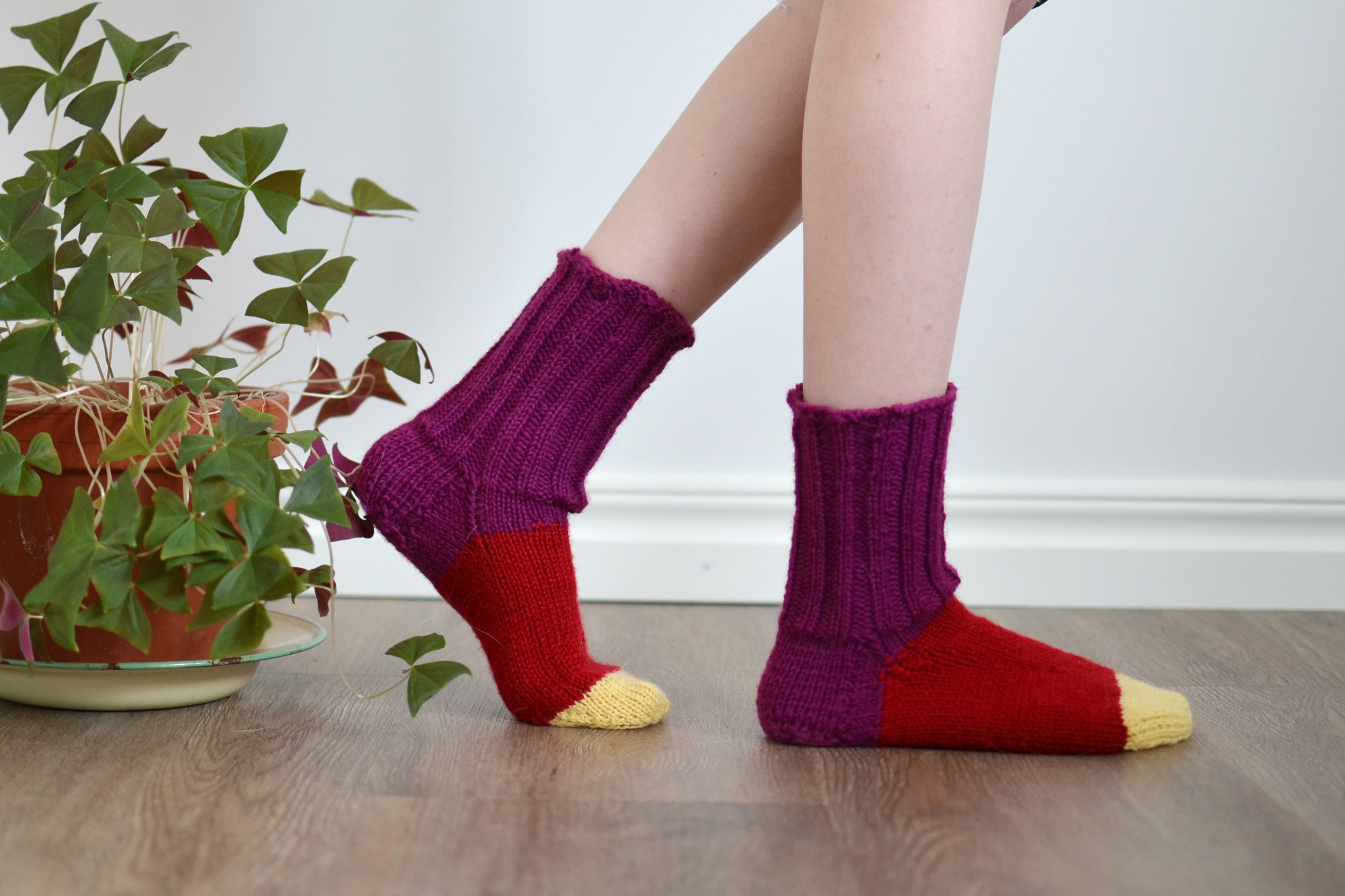 Stickade sockor