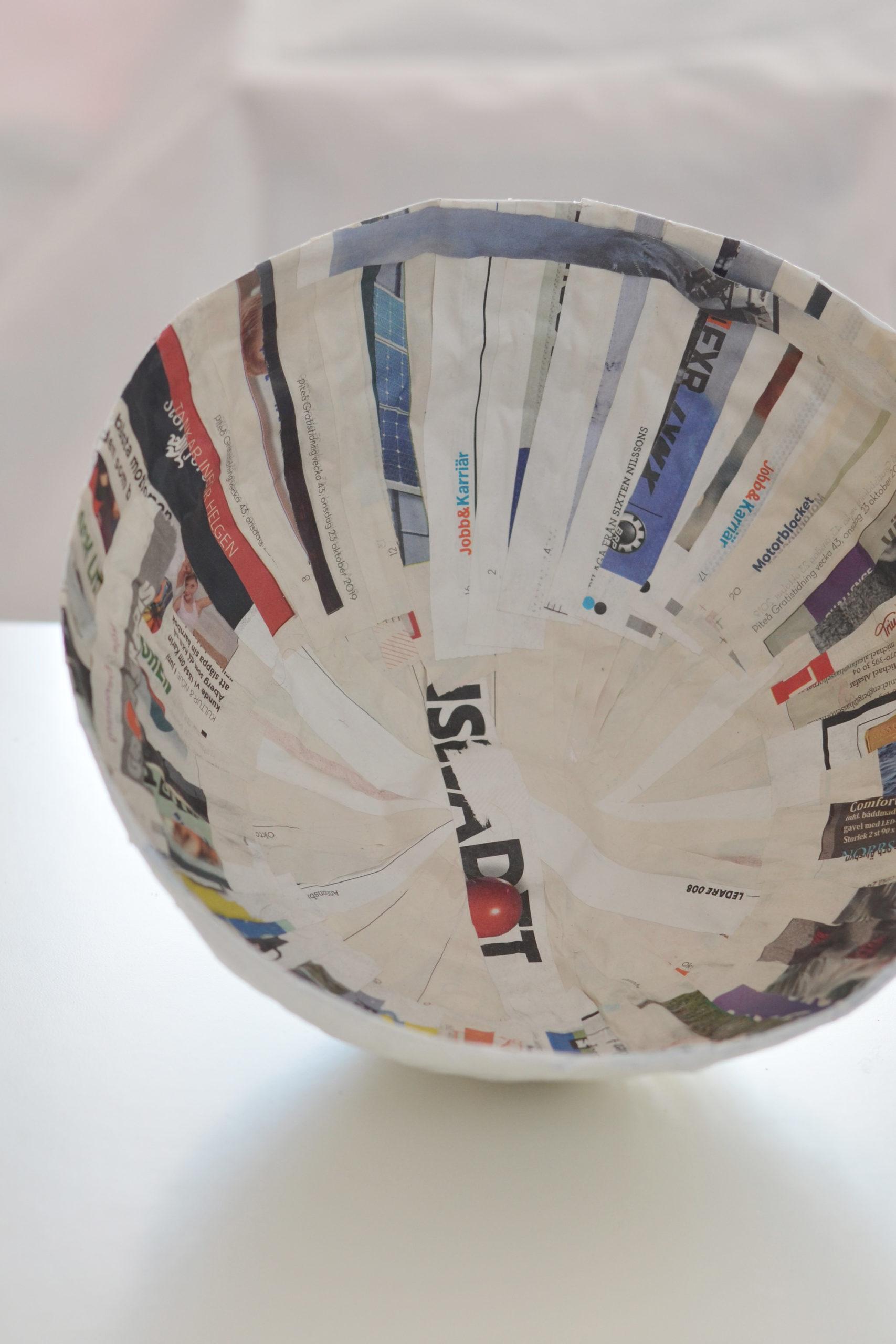 Skålar av tidningspapper