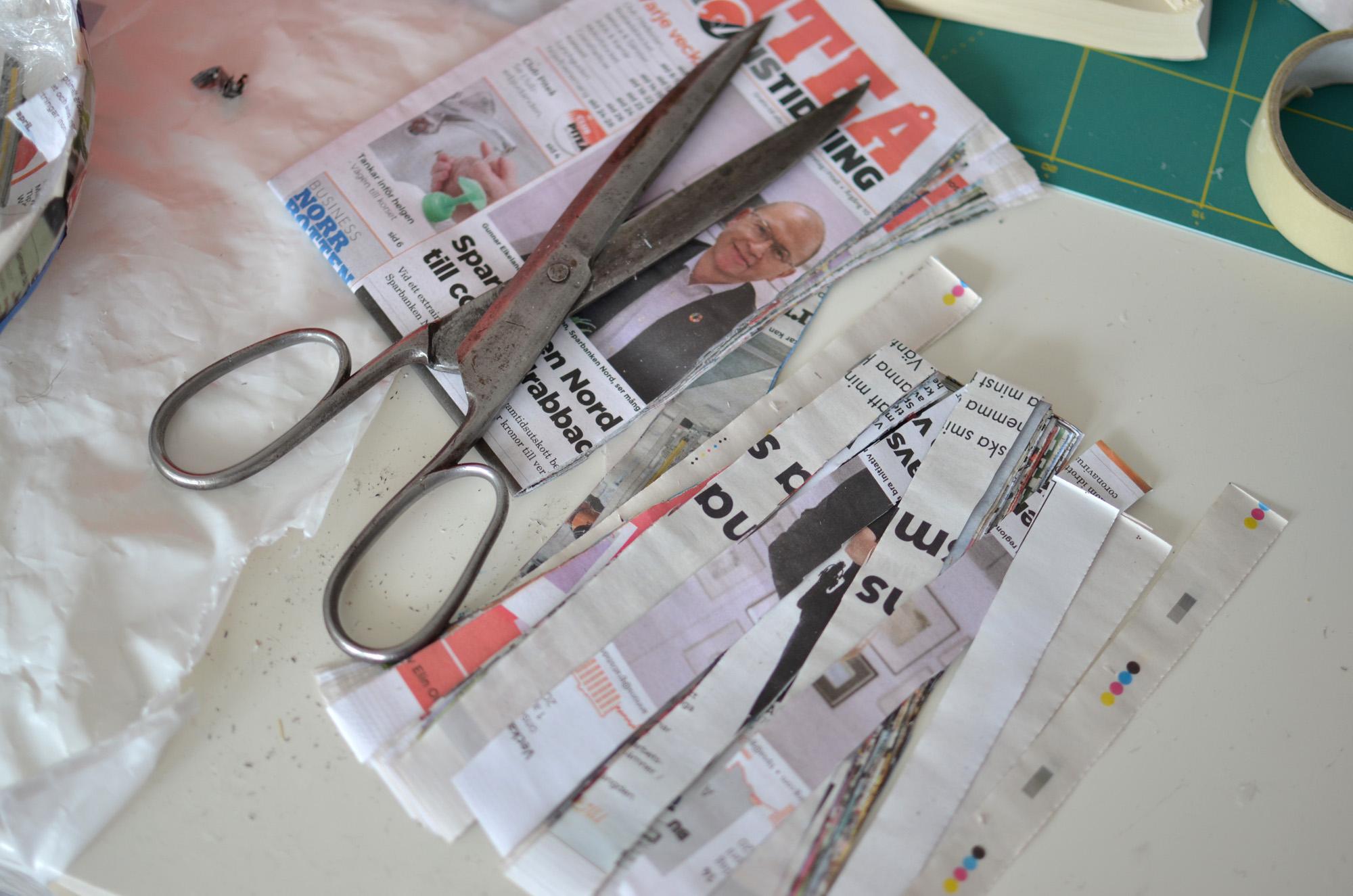 Klipp tidningspapper