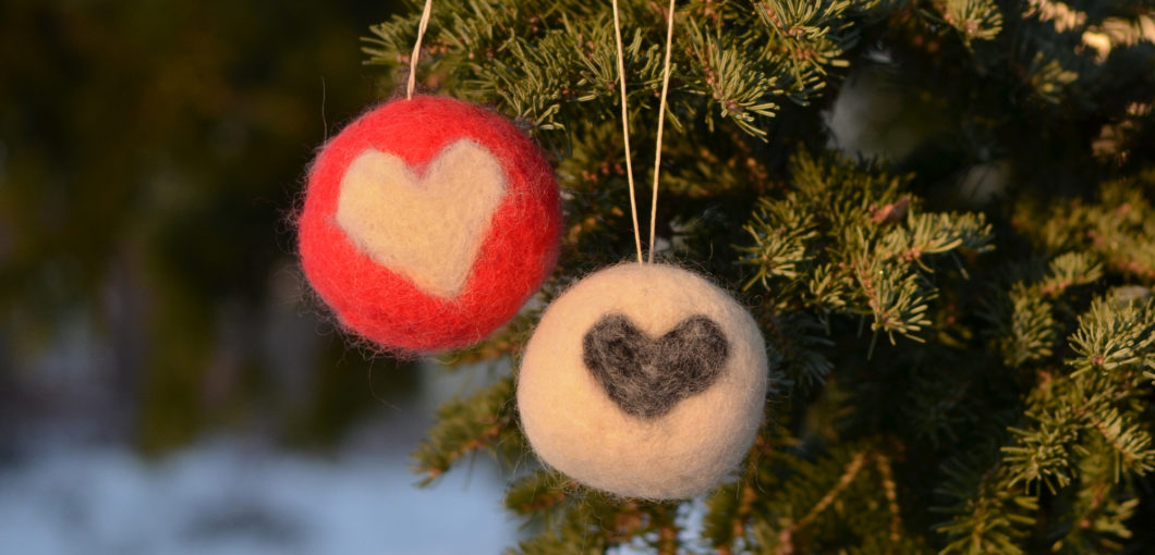 Nåltovade julkulor